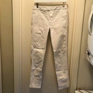 H&M high waist white skinny jeans